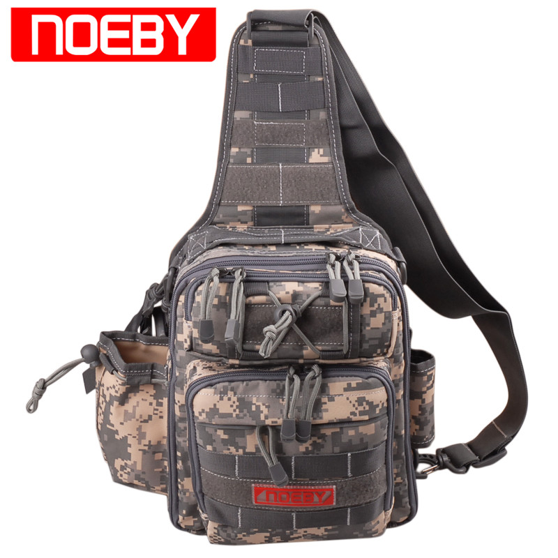 цена на Noeby Fishing Bag 28*21*9.5cm Outdoor Fishing Tackle Bags Waterproof Backpack Crossbody Messenger Sling Waist Bag Bolsa Pesca
