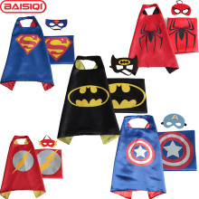 High quality Mask Cloak for boy girl Superhero Cape Halloween Xmas New Year gift Kid Birthday