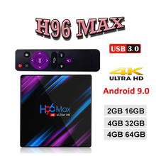 цены на Android 9.0 Smart tv Box RK3318 4GB RAM 32GB 64GB H96 MAX Plus TV Box 5G Wifi 4K H.265 Media player H96 Pro  в интернет-магазинах