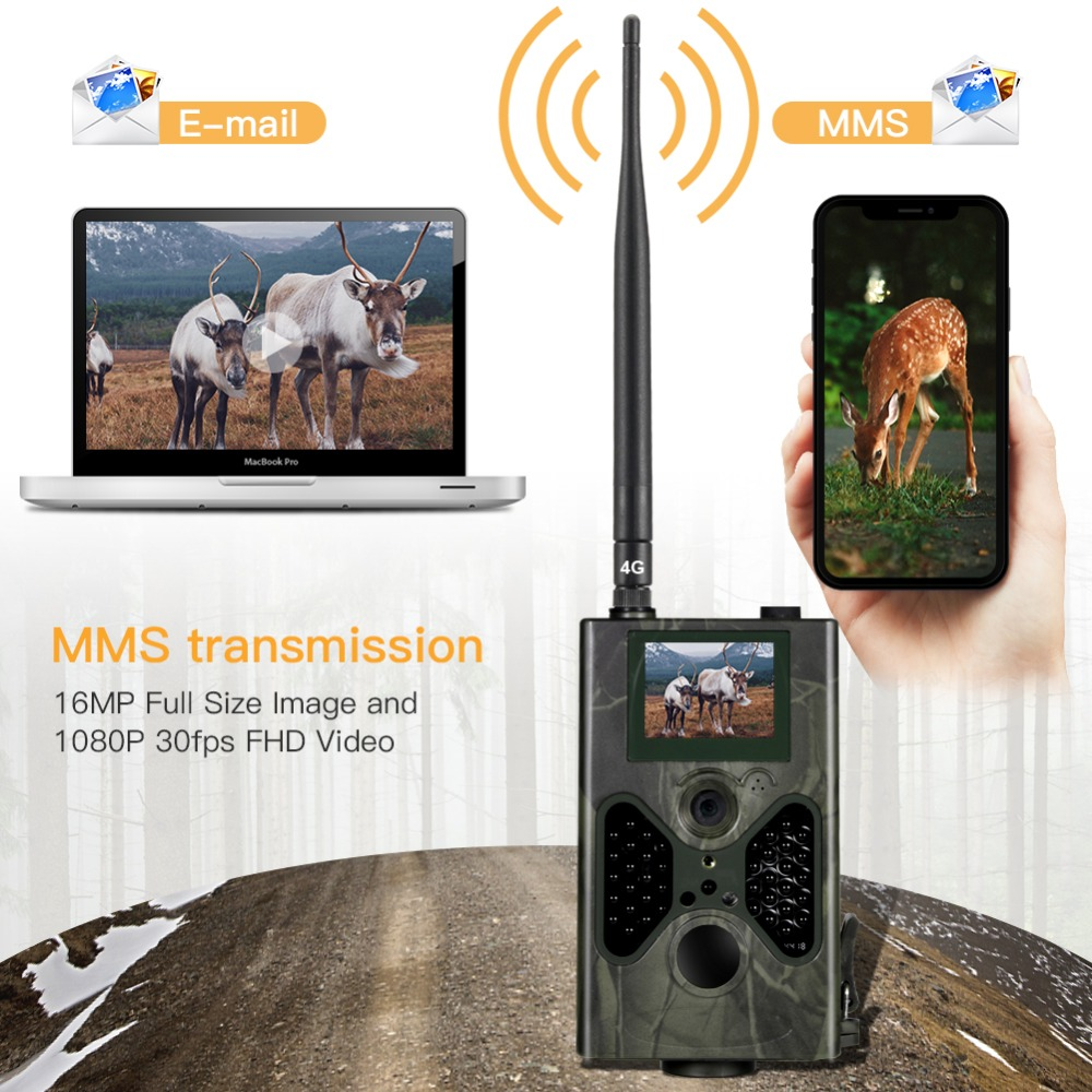 HC330 LTE 4G Trail Hunting Camera 16MP 1080P SMTP/FTP SMS Infrared Cameras IR Wild Game Trail Cameras Photo Trap 0.5s Trigger-in Hunting Cameras from Sports & Entertainment    1