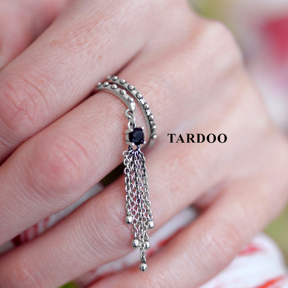 Tardoo Authentic Sterling Silver Rings for Women Taeeels Design Casual &Sporty Style Wedding Silver 925 Jewelry