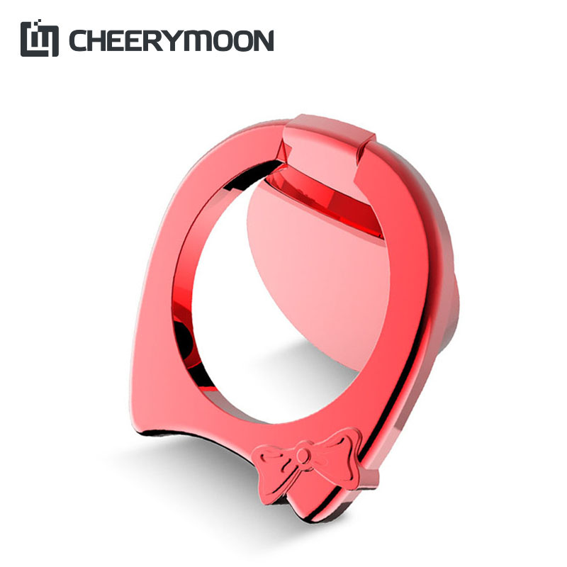 CHEERYMOON Hollow Kitty Universal Mobile Phone Ring Stand Metal 360 Degree Finger Grip For iPhone X Samsung Magnetic Holder