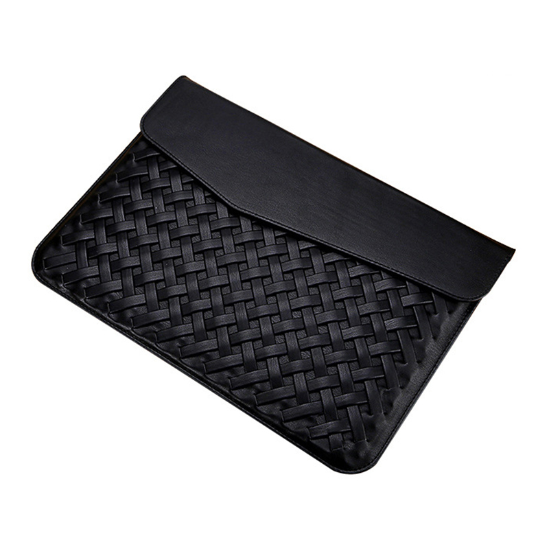 2017 Weaving PU Leather Durable Luxury Case for Macbook Air 13 inch Minimalist Style Fashion Protective Case for Macbook Black