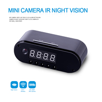 HD WIFI Mini Camera Clock Night Vision Clock Alarm P2P Livecam IR Smart Recording Camcorder Wifi