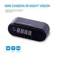 HD WIFI Mini Camera Clock Night Vision Clock Alarm P2P Livecam IR Smart Recording Camcorder Wifi