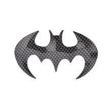 1PC Carbon Fiber Bat Batman Emblem Badge Sticker Car Accessories Fashion 3D Animal Bat Shaped Cool Car Sticker Auto Decorative