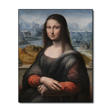 Copy of Mona Lisa by Da Vinci Famous Canvas Painting Calligraphy Art Home Decor Canvas Wall Art Picture for Living Room Church an angel in rrd with lute by da vinci wall picture poster print canvas painting calligraphy for living room bedroom home decor