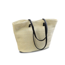 2019 Hot Sale High Quality Knitted Summer Beach Large Capacity Straw Shoulder Bags for Women Fashion Weave Travel Tote Hand Bags недорого