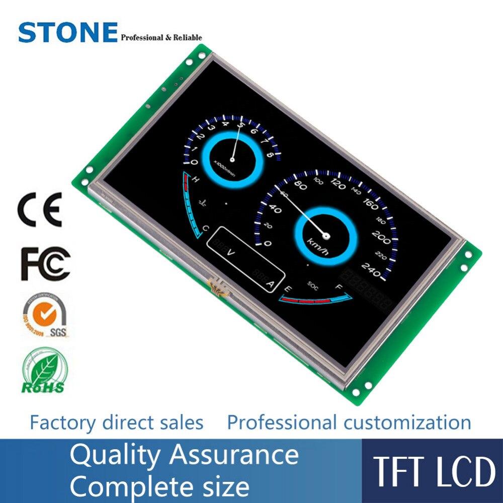 7 дюймов HMI Smart TFT ЖК дисплей модуль с контроллером + программа + сенсорный + UART серийный интерфейс