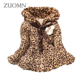 Fuax Fur Coats Warm Winter Baby Girls Cotton Lolita Style Leopard Printed Jackets Kids Infant Thick Outerwears Baby Clothes G298