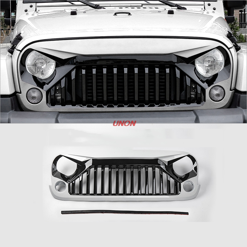 Jeep Wrangler Grill >> Us 124 3 For Jeep Wrangler Rubicon Sahara Sport Front Grille Grill 2007 2008 2009 2010 2011 2012 2013 2014 2015 2016 2017 Automible In Racing Grills