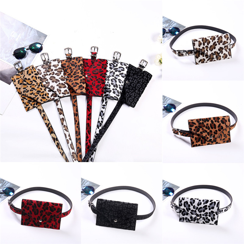 NOENNAME_NULL Womens Ladies Leopard Bum Bag Waist Fanny Pack Holiday Travel Wallet Money Belt
