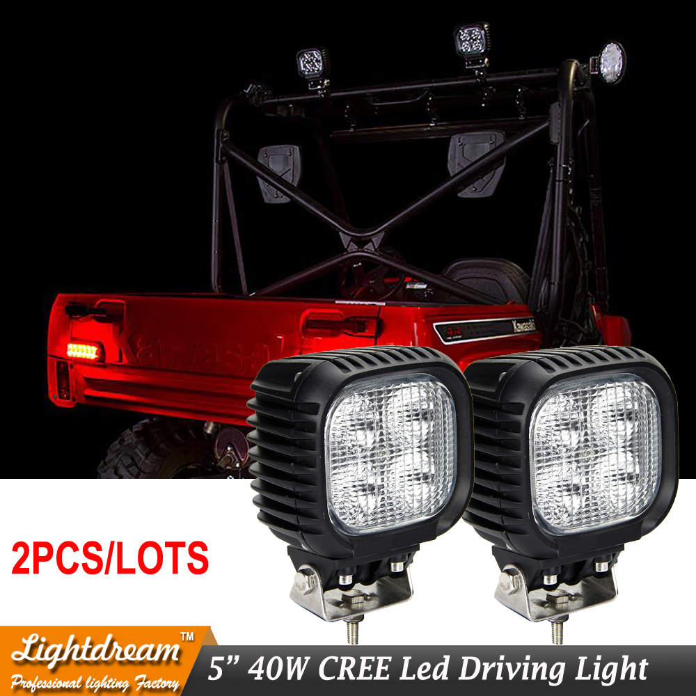 40W 4leds 10W Led Work Lights 12V 24V Offroad Flood Spot Driving Lamp Car Truck Atv Boat for Wrangler SUV ATV Truck Car 2pcs/lot