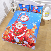 Christmas Series Bedding Set Luxury Childrens Room Comforter Sets Queen King Duvet Cover Bedclothes Home Textiles 3Pcs