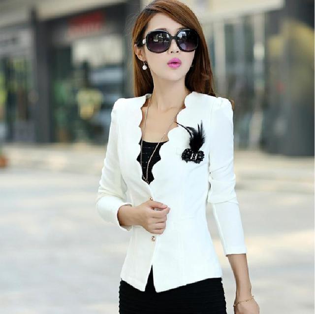4a4c581b8d663 2015 New Long Sleeve Plus Big Size Women Blazer Corsage Formal Woman Coats  Jackets Work Wear