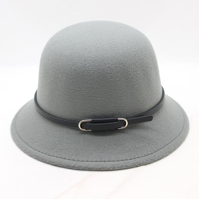 2018 New Fashion Elegant vintage Autumn Winter Belt red fedora hats for women Ladies female jazz cowboy Cap top Hats in Men 39 s Fedoras from Apparel Accessories