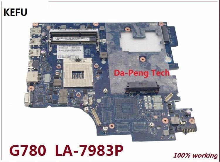 KEFU For Lenovo G780 Laptop Motherboard Mainboard QIWG7 LA 7983P Fully Tested