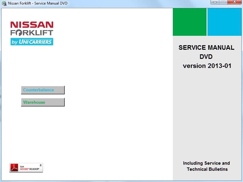 ForkLift Service Manual 11-2013 For nissan