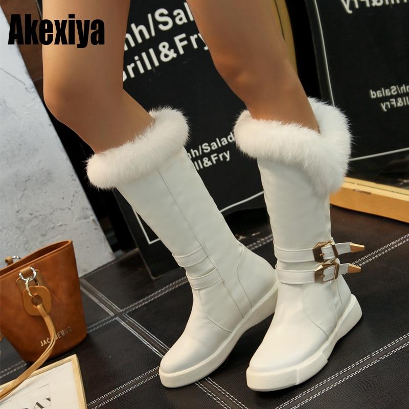 Mode 2019 Laarzen Winter Nieuwe Kopen Goedkoop Vrouwen Gesp Bont Hq6S5Iwn