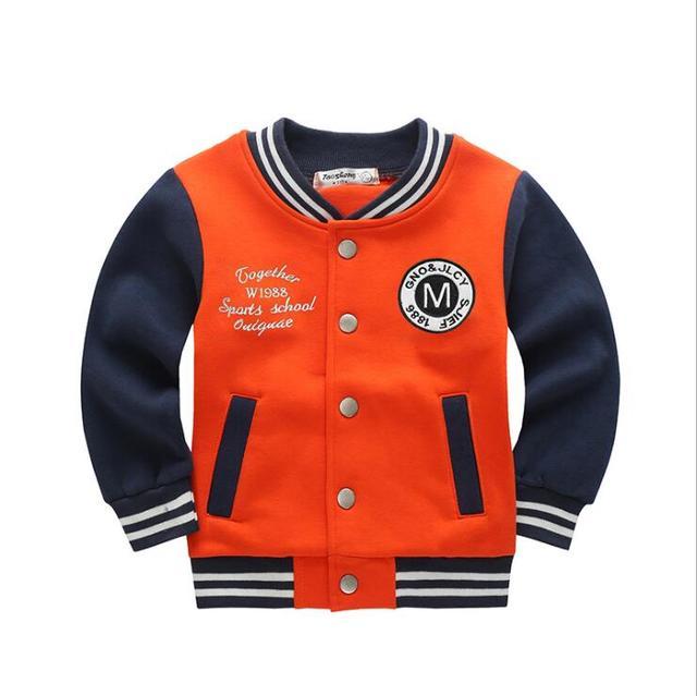 129abdd66 2 3 4 5 6 7 8 años bebé béisbol chaqueta ropa 2018 niños primavera otoño