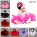 15 Colores Baby Girl Party Tutu Niño Recién Nacido Bebé Del Tutú de La Falda con banda de sujeción Para Niños Bebé Mullido Tulle Tutu set para Apoyo de la Foto falda