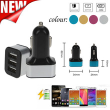 hot deal buy usb charger car charger universal fast charger 12v 3port usb for iphone/samsung cellphone xiaomi huawei dc charger adapter z75