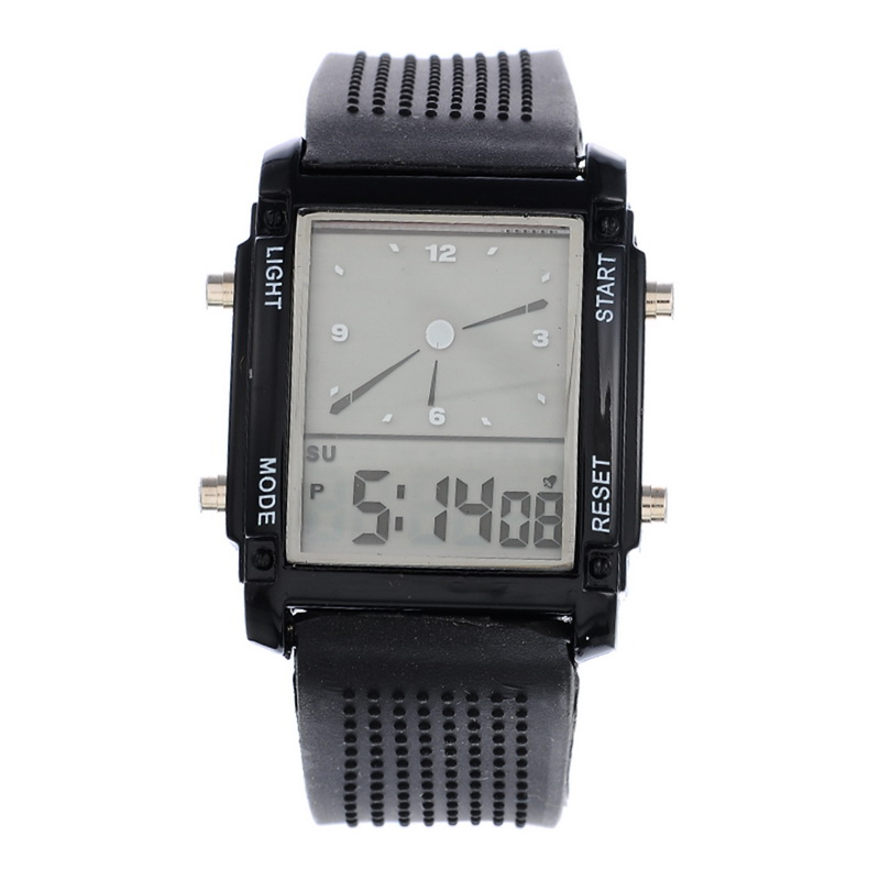 Sport-Watches Dual-Display Electronic Colorful Men New LED