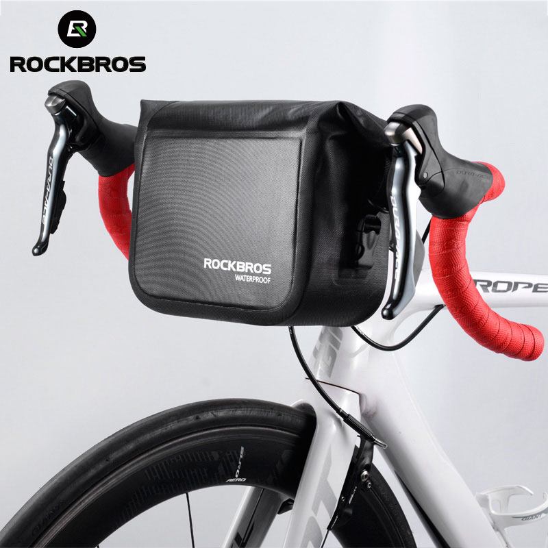 ROCKBROS Mtb Bike Front Bag 4L Waterproof Handlebar Bag Bicycle Frame Bag Front Tube Pocket Shoulder Pack bmx Bike Accessories
