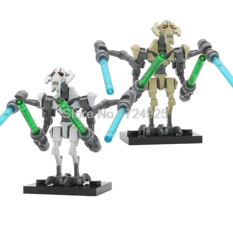 Star Wars Grievous Single Sale Figure Building Blocks Starwars The Force Awakens Set Models Toys PG630 For Children