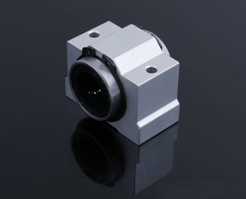 1pcs SCV16 SCV16UU SC16VUU 16mm Linear Bearing Block Bushing with LM8UU For CNC free shipping sc16vuu sc16v scv16uu scv16 16mm linear bearing block diy linear slide bearing units cnc router