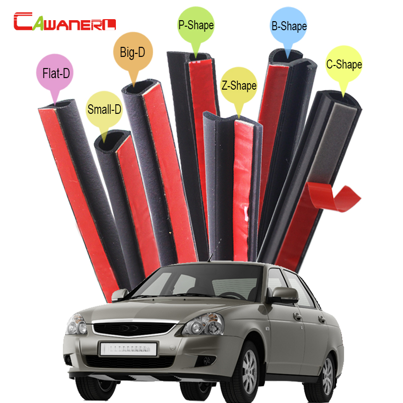 Cawanerl Whole Car Hood Door Trunk Seal Sealing Strip Kit Fillers Weatherstrip For Lada Priora 110 111 112 Samara Kalina cawanerl whole car hood trunk door sealing seal strip kit seal edging trim rubber weatherstrip for jaguar c x17 f pace