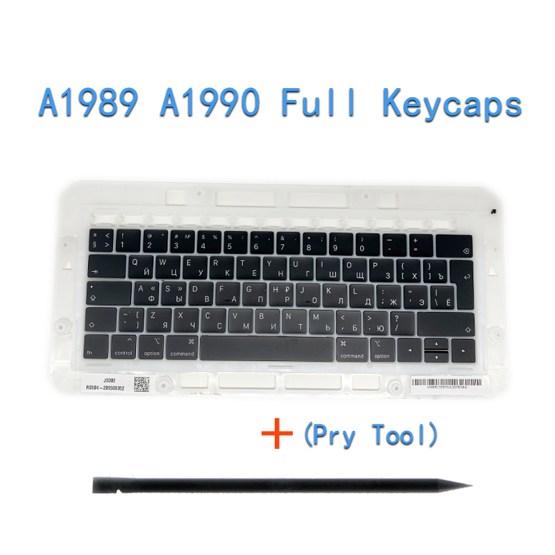 """Image 5 - Original A1706/A1707/A1708 Russian Keycaps For Macbook Pro/Air Retina 13"""" 15"""" A1932/A1990/A1989 RU Keys Replacement Keyboard-in Replacement Keyboards from Computer & Office on"""