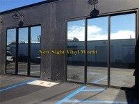 VLT 15% Mirror Window Tint Silver Window Film For Buliding Home Office Glass Size:1.52*30m/Roll