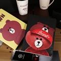Для Apple Ipad mini4 аксессуар случай мультфильм медведь дизайн искусственная кожа & pc материал защитной оболочки стенд А1550 A1538 смарт обложка