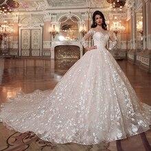 ג וליה Kui בציר נסיכת מסולסל צוואר כדור שמלת חתונת שמלות עם קפלת רכבת שליחת תחתונית מתנה