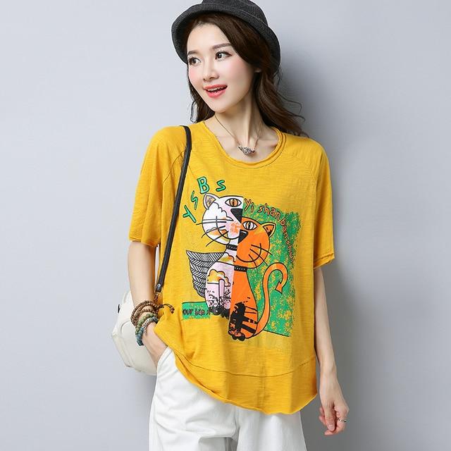 e5a98c1ea0b5 Blanco de verano camiseta de las mujeres punk harajuku kawaii camiseta  oversize mujer maravilla negro o