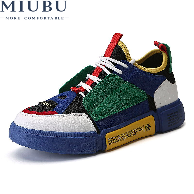 MIUBU Mens Canvas Shoes for Men Fashion Spring Autumn Casual Breathable Solid Color Lace Up Male