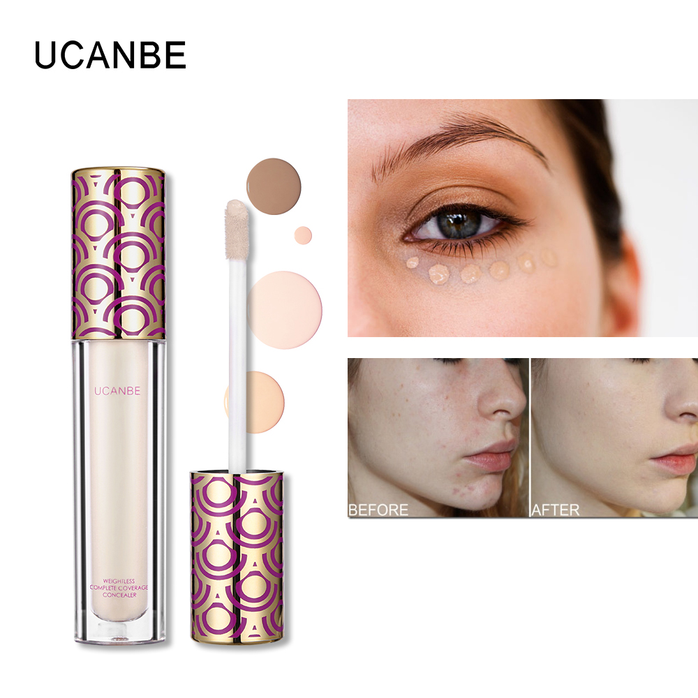 UCANBE Face Liquid Concealer Base Foundation Moisturizing Contouring Make Up Full Cover Eye Concealer Cream Corrector Palette image