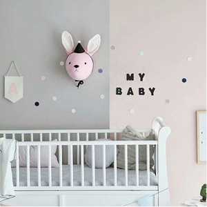 Image 3 - Elephant Pillow Baby Room Decoration Plush Toys Infant Kids Rabbit Baby Bedding sleep toys doll Boy bunny baby room wall hanging