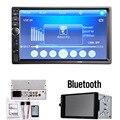 Rádio do carro 7 ''Polegadas LCD Touch Screen Rádio Do Carro Jogador Do Bluetooth mãos Livres Filme Câmera de Visão Traseira 2 DIN Áudio Estéreo MP5