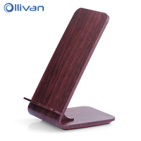 Ollivan QI Wireless Charger For IPhone X 8 Samsung Galaxy S8 Plus S7 Note8 Wood Grain