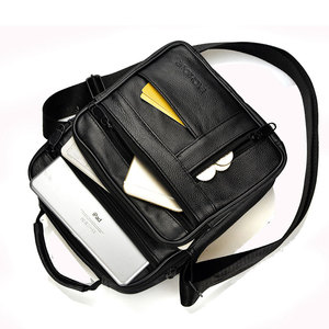 Image 4 - Brand Men Bag 2020 Fashion Mens Shoulder Bags High Quality Leather Casual Messenger Bag Business Mens Travel Bags Handbags