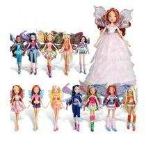 med originallåda Fairy Winx Club Doll regnbåge färgglada tjej Action Figures Fairy Bloom Dolls med klassiska leksaker för Girl Gift
