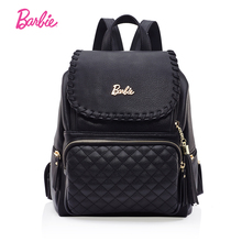 Барби женские рюкзаки черный Прохладный Стиль Девушки Искусственная кожа рюкзак студент мешок тенденции моды краткое мешок для дамы большой объем