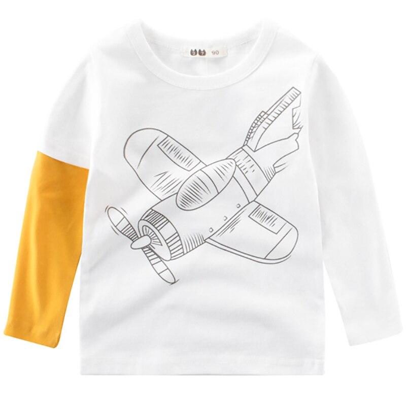 Boys T Shirts Spring 2018 Girl Long Sleeve T Shirt Cartoon Little Girls Tops Summer Boy T Shirt O-neck Cotton Toddler Tshirt