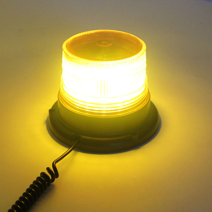 2017 New High power Flashing Mode Yellow Car LED Truck Magnetic Warning Light Flash Beacon Strobe Emergency Lamp DC12V/24V