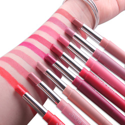 2019 New Rose Brand Lip Stick Color Cosmetics Wateproof Double Ended Long Lasting Nude Red Matte Miss Velvet Lipstick Pencil