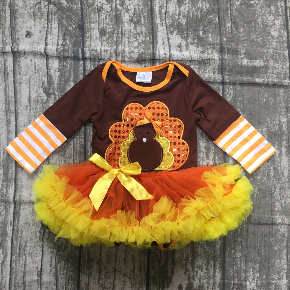 baby girls children thanksgiving tutu romper infant toddler girls turkey tutu tomper baby girls thankgiving party tutu romper