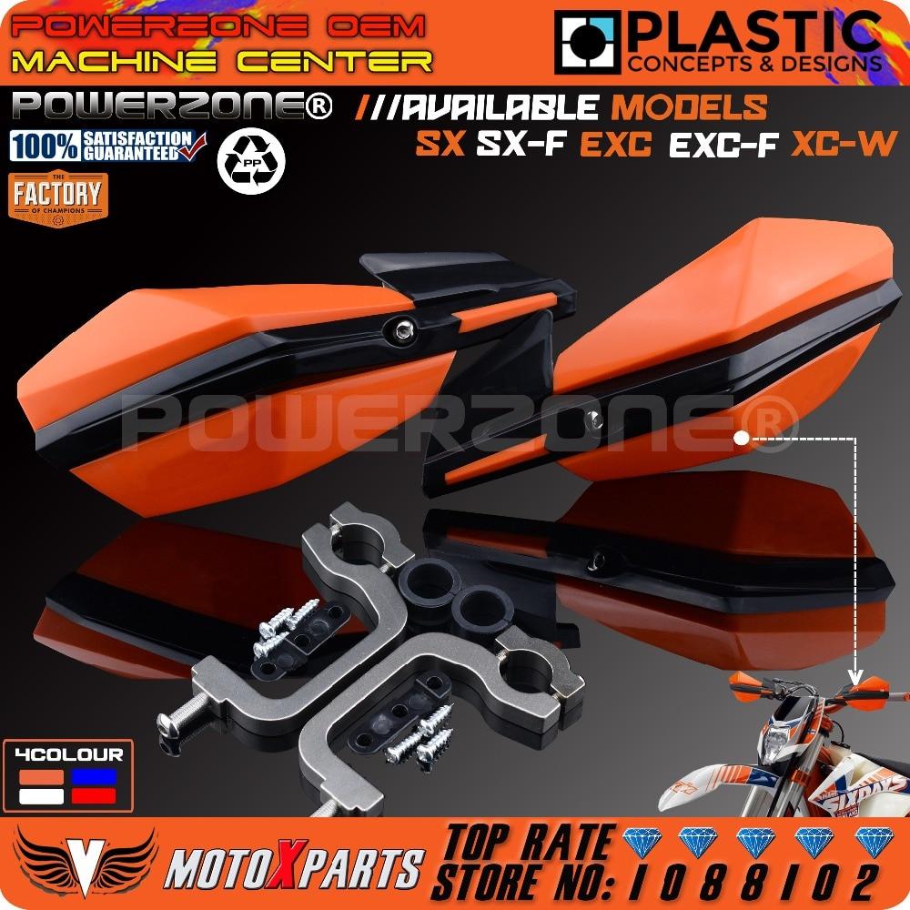 Powerzone Handschutz Motorrad Motocross Supermoto Lenker handprotektoren Für KTM XC W SMR LC SXF EXC CRF YZF KXF WRF ATV QUAD