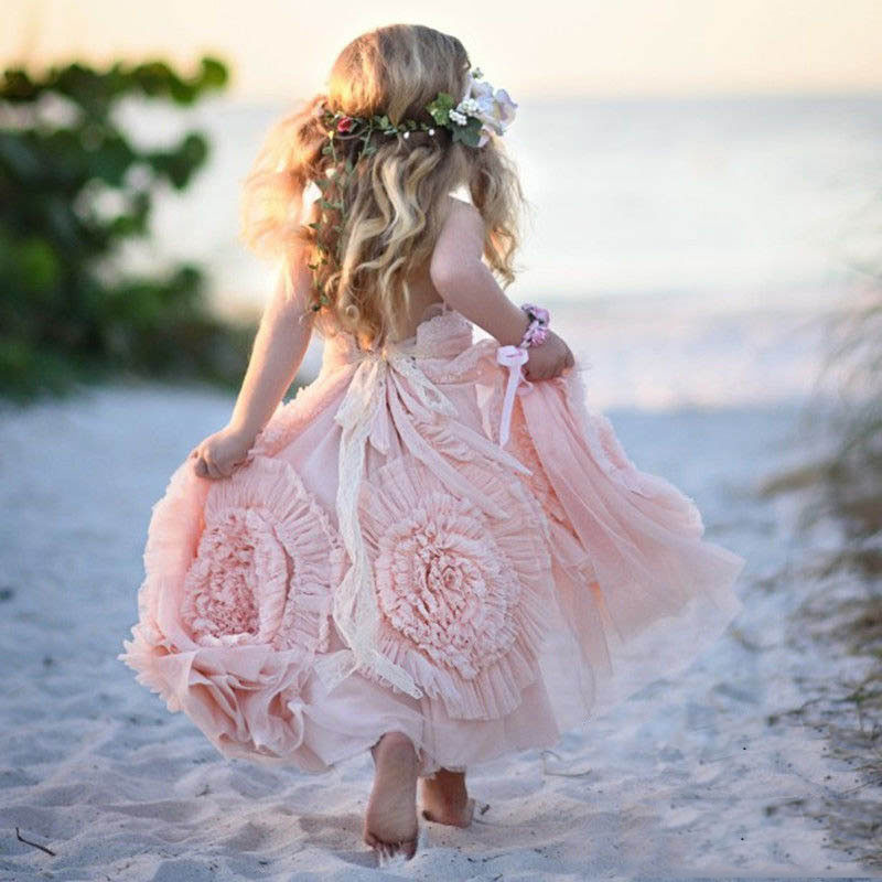 Beautiful-blush-pink-long-halter-beach-tulle-flower-girl-dresses-nice-sleeveless-backlessboho-kids-birthday